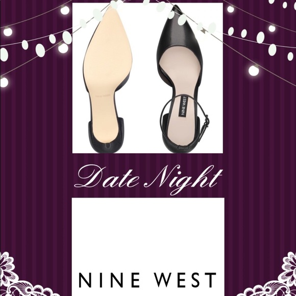 f673c428504 NWOT• Nine West • Marisa Ankle Strap Black Heels